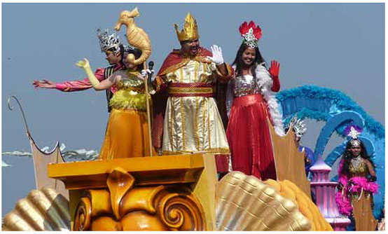 King Momo on a Float - Goa Carnival