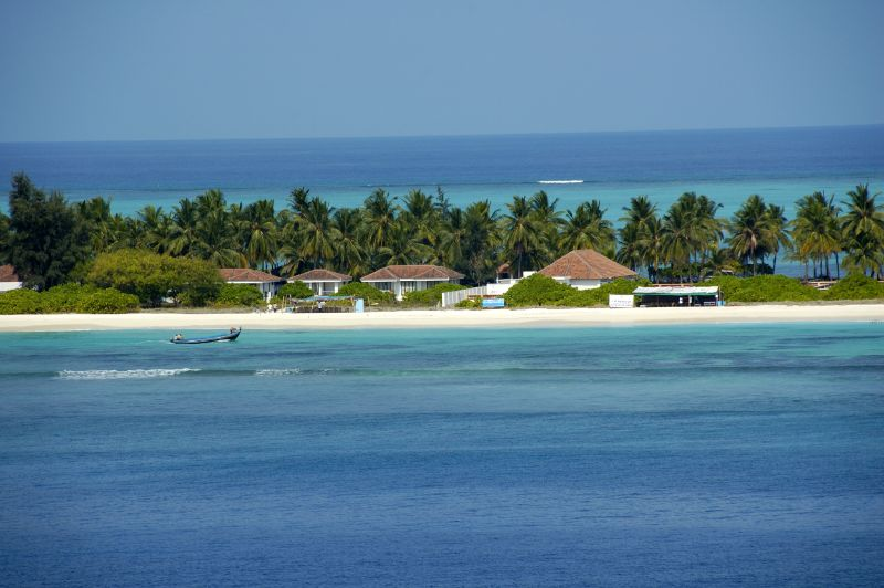 A beach side resort at Kadmat Island, Lakshadweep