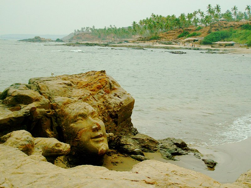 Goa India Little Vagator Beach Shiva Head