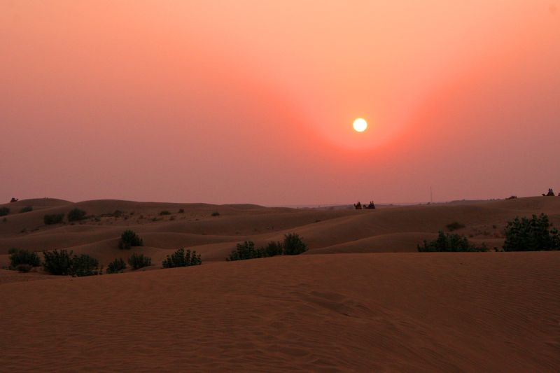 Thar Desert Sunset Rajasthan India