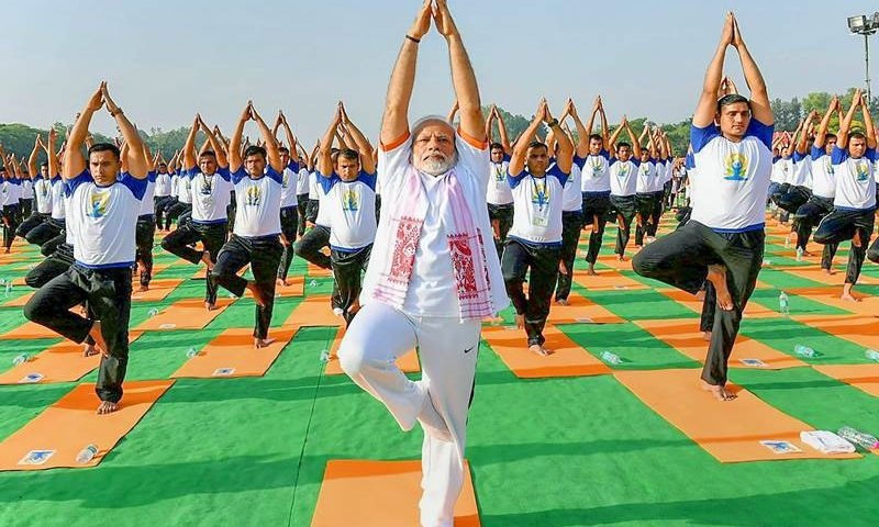 pm modi yoga day