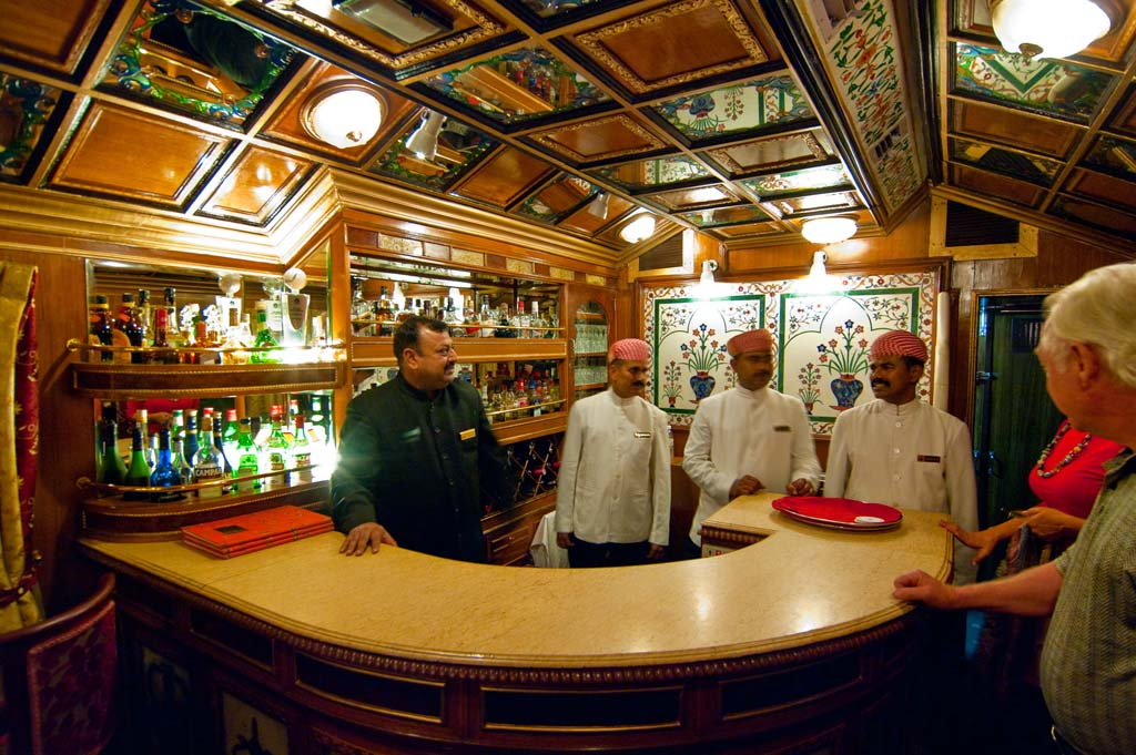 Bar Lounge Area - Luxury Train Palace on Wheels in India