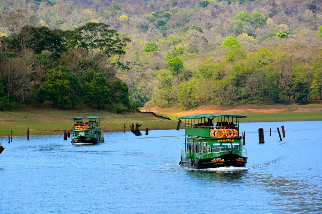 Boat Ride at Periyar Lake Kerala India