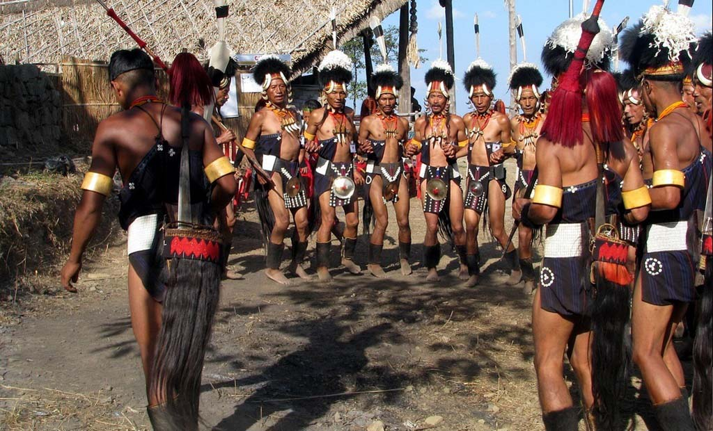 Chang Tribals Singing and Dancing Nagaland India