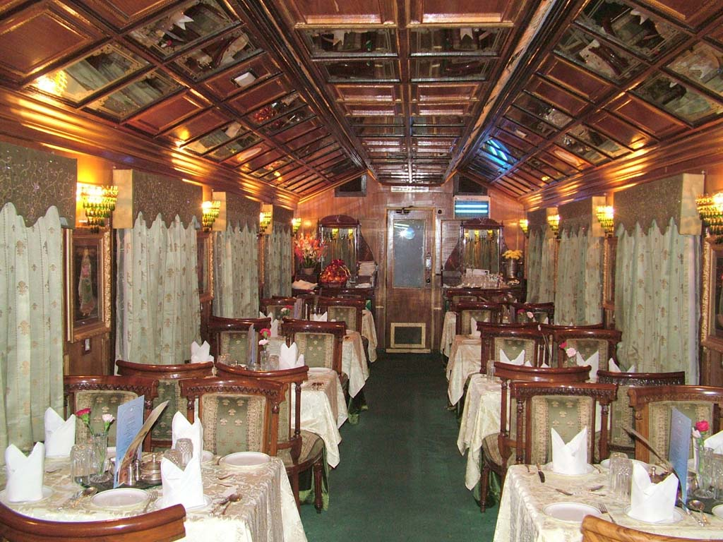 Dinning Area  - Palace on Wheels Luxury Train in India