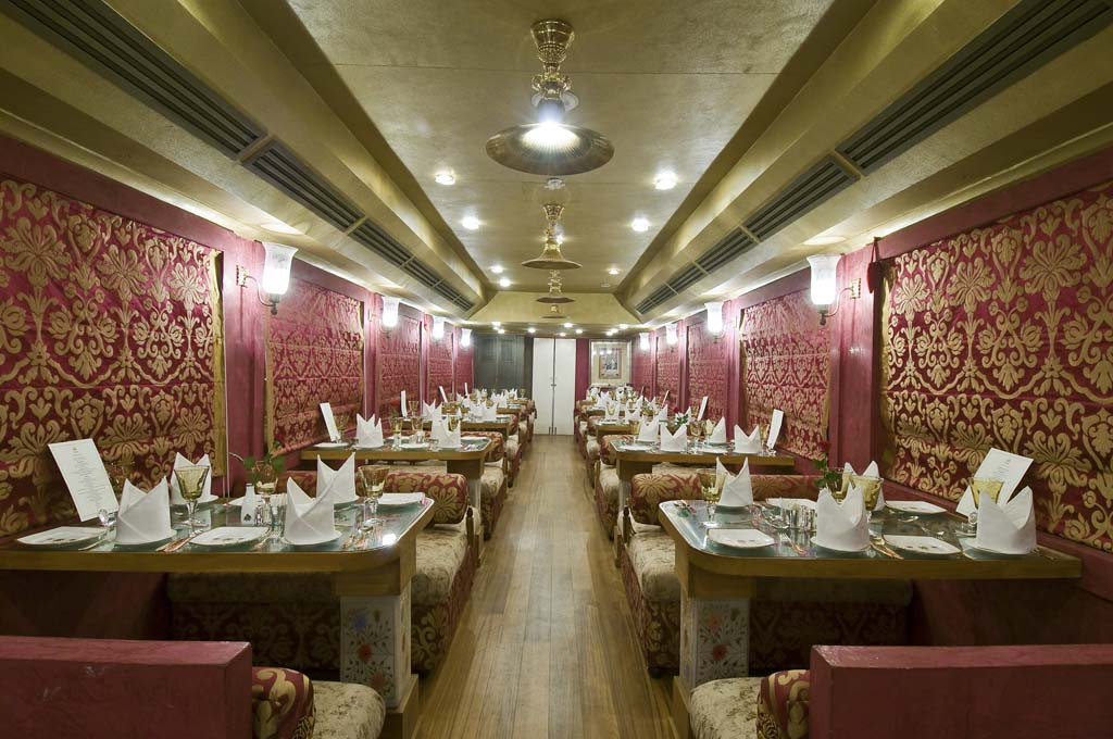 Dinning Area Royal Rajasthan on Wheels Tour India