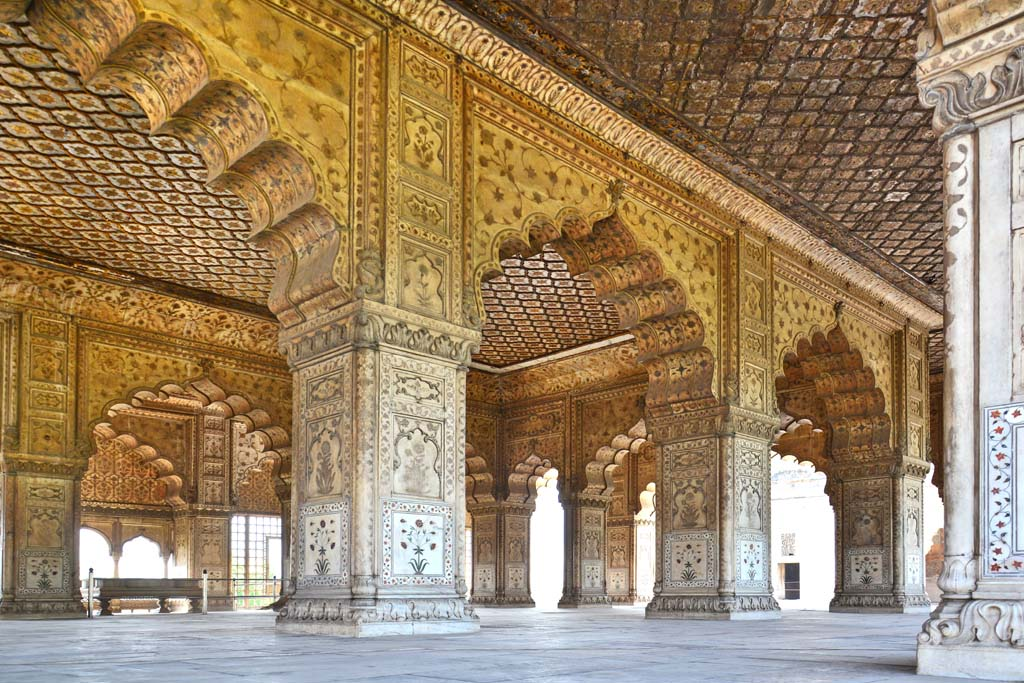 Diwan-i-Khas inside view Red Fort Delhi