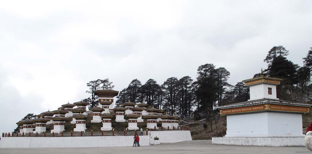 Dochula Pass with 108 Stupas Bhutan