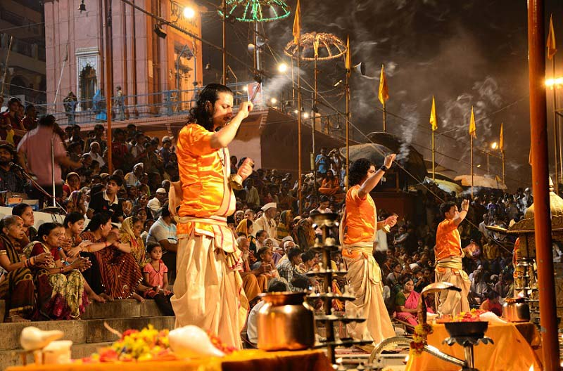 Varanasi Tour Packages - Evening Ganga Aarti at Varanasi Uttar Pradesh India
