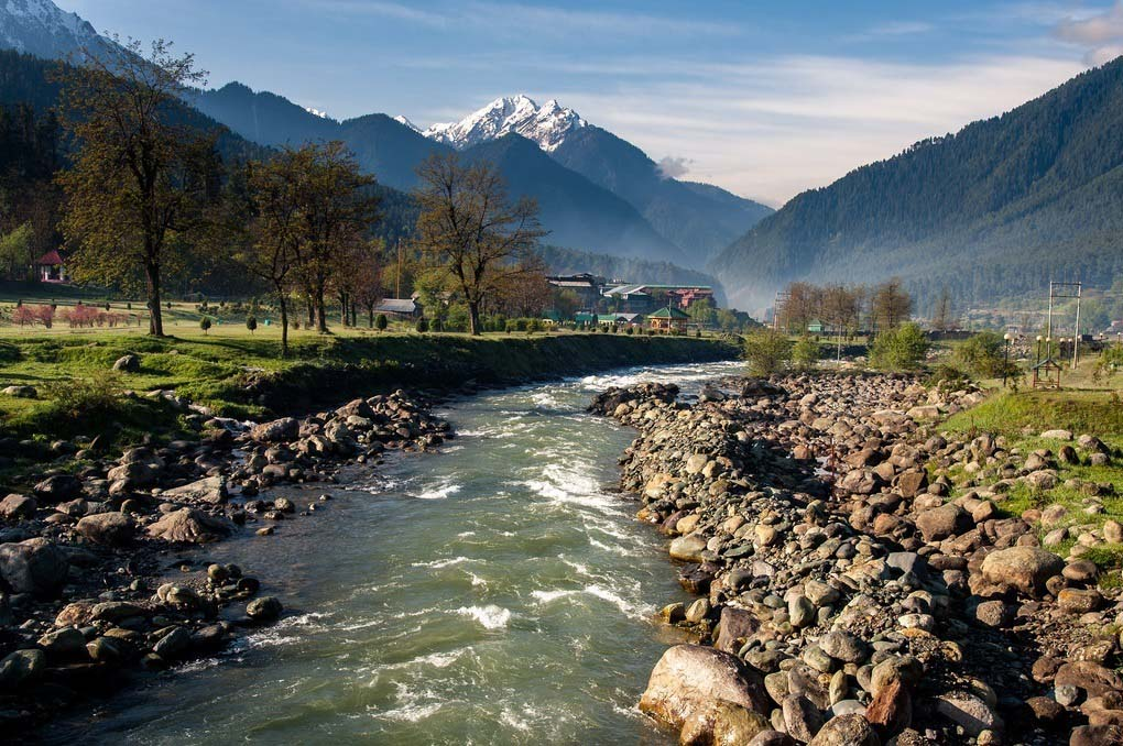 Lidder River at Pahalgam Jammu and Kashmir India