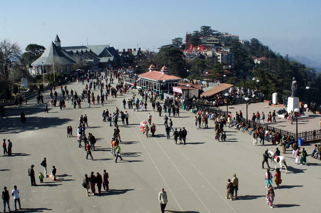 Mall Road Shimla Himachal Pradesh India