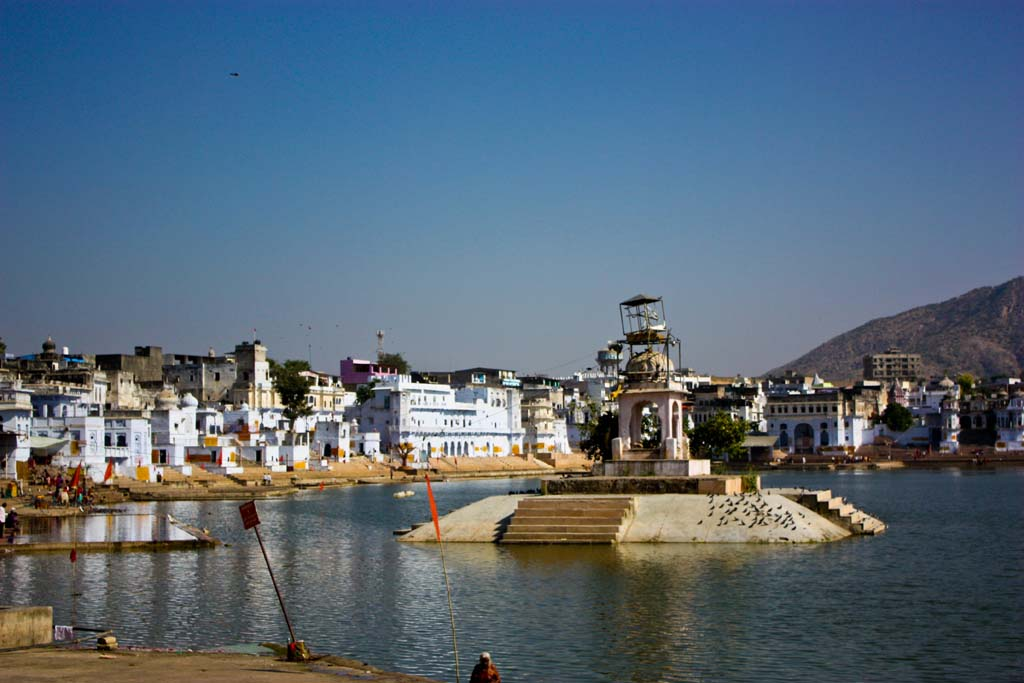 Pushkar Lake Brahma Temple Rajasthan India