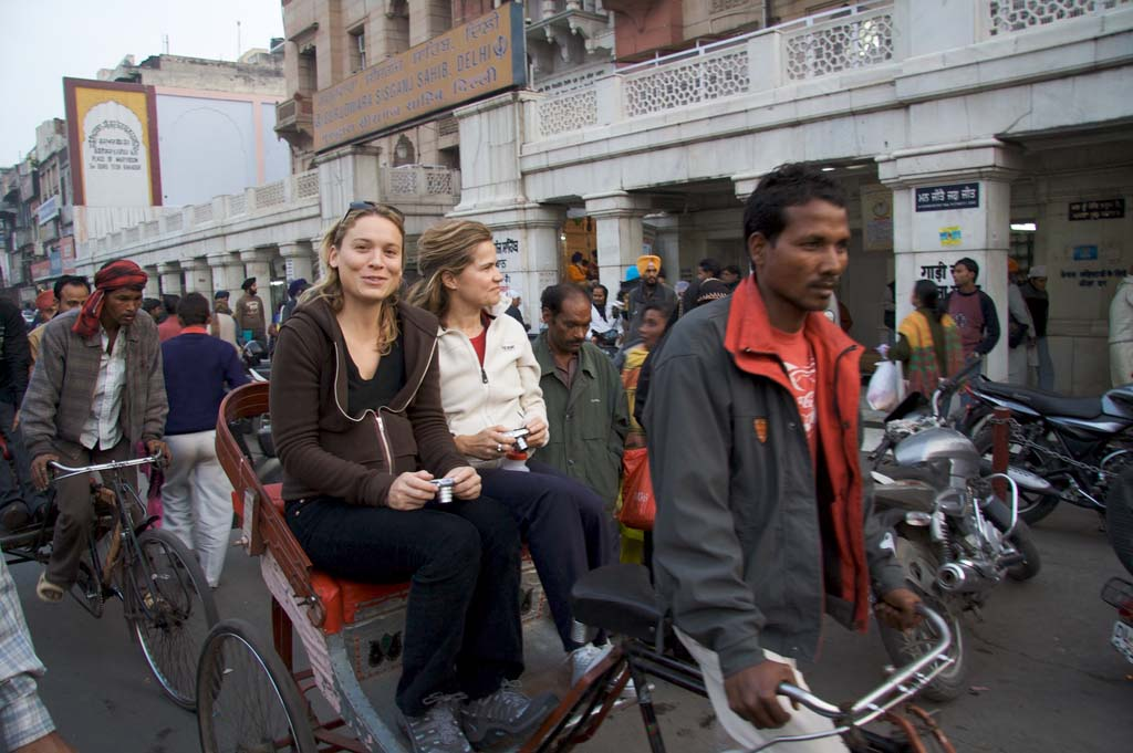 Rickshaw Ride Chandni Chowk Old Delhi India