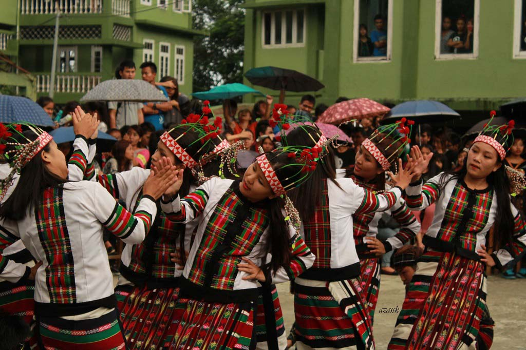 Ritual and Dance Mizo Tribes Aizawl Mizoram India