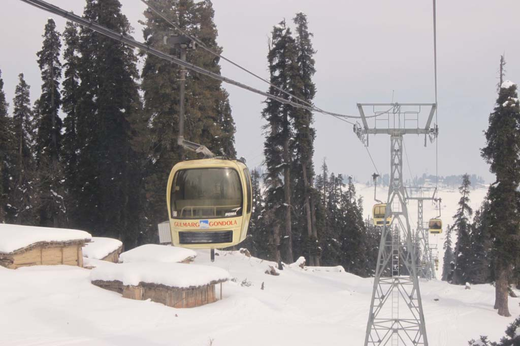 Cable Car Ride in Gondola Gulmarg Jammu and Kashmir India