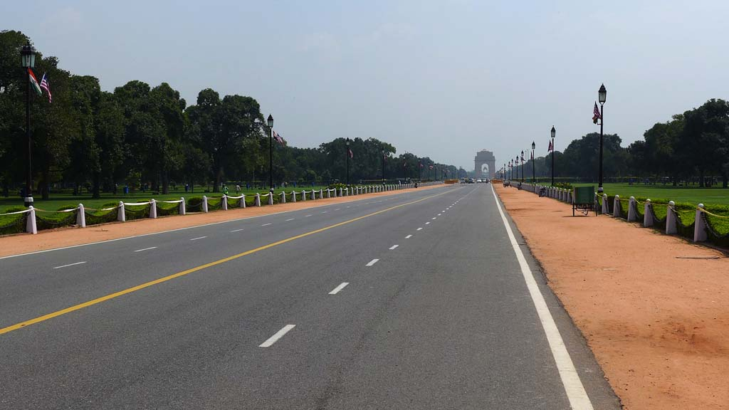 View of Rajpath with India Gate New Delhi India